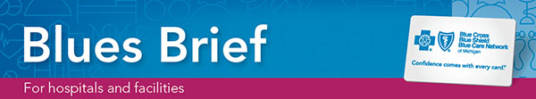 Blue Brief for hospitals and facilities banner